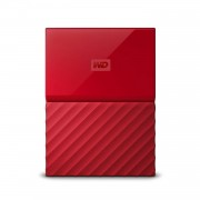 Western Digital My Passport 2Tb Hard Disk Esterno Portatile USB 3.0 Software di backup automatico PC Xbox One PlayStation 4 rosso