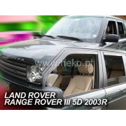 Deflektory komplet 4 ks pre LAND ROVER Range Rover , 2002-2012