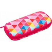 Penar cu fermoar ZIPIT Colorz box - triunghiuri roz