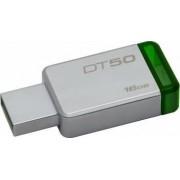 USB Flash Drive Kingston 16GB DataTraveler 50 USB 3.1 Metal-Verde
