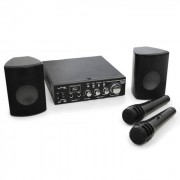 LTC Set PA Star-2 altavoces, amplif y micros 2x50 W. USB, MP3 (BD-KARAOKE-STAR2)