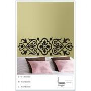 Decor Kafe Sticker Style Floral Pattern Wall Sticker (60x16 Inch)