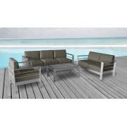 Salon de jardin - Orolo - 3 places + 2 places + fauteuil + table basse