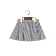 【54%OFF】Elledy ヒッコリーストライプ パイピング フレア スカート ネイビー 80 ベビー用品 > 衣服~~ベビー服