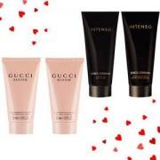 Комплект за мъже Dolce & Gabbana Intenso + Комплект за жени Gucci Bloom