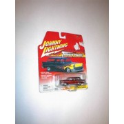 Johnny Lightning THUNDER WAGONS RED WITH SILVER TRIM CUSTOM 1957 NOMAD STATION WAGON