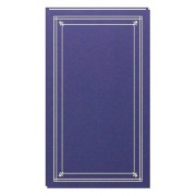 Pioneer 204-Pocket Post Bound Slim Line Leatherette Cover Photo Album for 4 by 6-Inch Prints, Bay Blue