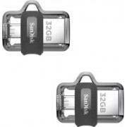 SanDisk Ultra Dual Drive OTG 3.0 (Pack Of 2) 32 GB Pen Drive(Silver)