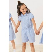 Next Gingham Playsuit (3-14yrs) - Red