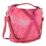 Unikátní kombinovaná kabelka Tapple 3091 růžovo-červená