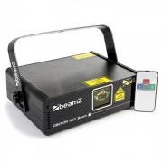 Beamz Oberon II Show-Laser RGY 230mW 9-DMX Master/Slave mando a distancia (152.803)