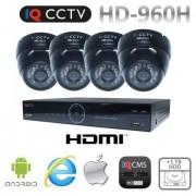 Kamerový systém 960H s 4x dome kamery s 20m IR + DVR s 1TB HDD