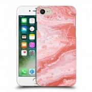 Átlátszó szilikon tok az alábbi mobiltelefonokra Apple iPhone 8 - Red liquid