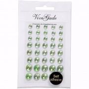 Merkloos Hobby groene plak parels 40 stuks