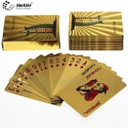 SWASH Golden Foil Casino Grade Premium Quality Deck of Playing Cards : Iconic Burj Al Arab Khalifa, Dubai