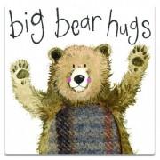 koelkastmagneet alex clark - big bear hugs - beer