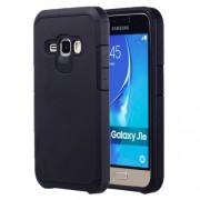 Samsung Galaxy J1 (2016) Case, J120 Case, Corselet TPU + PC Combination Back Case(Black)