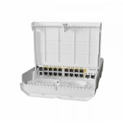 MikroTik (CRS318-16P-2S OUT) outdoor 18 port switch with 16 Gigabit PoE-out ports and 2 SFP MIK-NETPOWER 16P