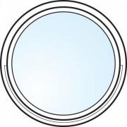 Dörrtema Fönster 3-glas energi argon rund vitmålat öppningsbart