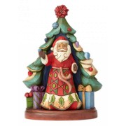 Jim Shore Santa With Tree (Set of 2)