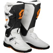 Scott 550 Motocross Boots White Orange 47
