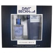 David Beckham Classic Blue confezione regalo Eau de Toilette 40 ml + doccia gel 200 ml uomo scatola danneggiata
