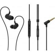 Fülhallgató, mikrofon, hangerőszabályzó, fém, SOUNDMAGIC PL30+C, fekete-szürke (SMFHP30PCBGR)
