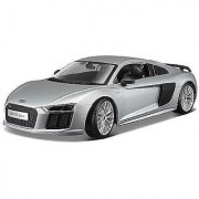 1:18 Maisto Audi R8 V10 Plus Siliver Diecast Model Car Vehicle New in Box