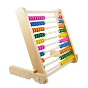 Montessori Educational Wooden Abacus 100 Beads Baby Toy Early Childhood Preschool Training Counting Number Frame...