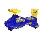 Panda Kartoon Swing Car - Blue