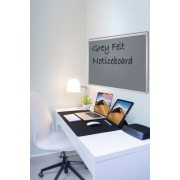 Grey Felt Noticeboard 900x600mm