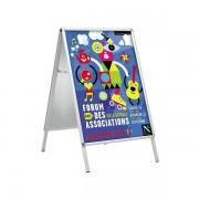Edimeta Chevalet de trottoir Cadro-Clic® A2 / 59,4 x 42 cm