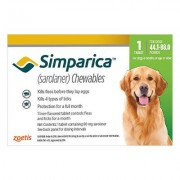 Simparica Chewables For Large Dogs 20.1-40kg (Green) 3 Doses