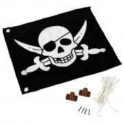 AXI Piratflagga svart och vit 55x45 cm A507.012.00