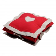 Perna decorativa Joliesse Inima multistrat - rosu