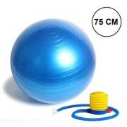 Nucleya Retail Anti Burst Gym Ball with Foot Pump 85 Cm Multi Colour