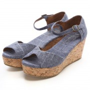 【SALE 50%OFF】トムズ TOMS CHAPTER WOMENS-PLATFORM WEDGES(Chambray) レディース