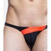 Mategear Mae Chun Back Push Up Tapered Sides V Front Ultra Bikini Swimwear Black 1700403