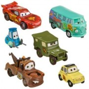 Disney Pixar Cars Lightning McQueen Pit Crew Toy Car Set (Pack of 6)