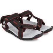 Newport Men Black/Red Sports Sandals