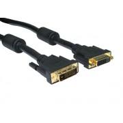 DVI - DVI kabel 5m dual-link M-F Hosszabbito
