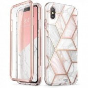Carcasa stylish Supcase Cosmo iPhone XS Max cu protectie display Marble