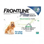 Frontline Plus Medium Dogs 23-44lbs(10-20kg), 6 Pack
