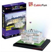 CubicFun LED 3D Puzzle Paper Model - The White House (USA) DIY Jigsaw L504H LED-Series