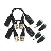 Winkasing 2 Pares Balum pasivo CCTV Seguridad Video 2mpx 4mpx 5mpx Transceptor Balun Plugs Energia