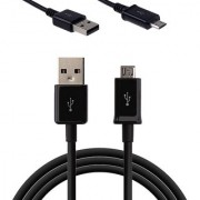 2 pack of Classic Black Series Micro USB to USB High speed data and Charging Cable for Nokia Asha 210
