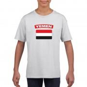 Bellatio Decorations T-shirt Jemenitische vlag wit kinderen