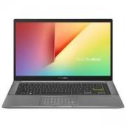 Лаптоп Asus Vivobook S14 S433JQ-WB513T, NUM PAD, Intel Core i5-1035G1 (up to 3.6 GHz, 6M Cache), 14 FHD, (1920x1080), DDR4 8G(ON BD.), SSD 512G PCIE G3X2, NVIDIA GeForce MX350 2GB GDDR5, Windows 10 (64bit), Illum. Keyboard, Black, 90NB0RD4-M00850