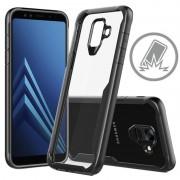 Capa Híbrida Anti-Choque para Samsung Galaxy A6 (2018) - Preto / Transparente