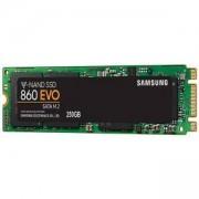 Твърд диск SSD Samsung 860 EVO Series, 250 GB 3D V-NAND Flash, M.2, MZ-N6E250BW